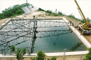 Επικάλυψη δεξαμενής νερού στο Άγιο Όρος - 2001